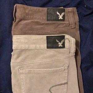 America Eagle skinny jeans size 4 Long/ExLong